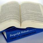 NLD-20040312-DEN HAG: De 5e druk van het Nederlandse Burgelijk Wetboek.ANPFOTO PAUL NEURAY